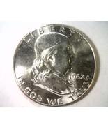 1962 FRANKLIN HALF DOLLAR CHOICE / GEM UNCIRCULATED CH. / GEM UNC. WHITE... - $28.00