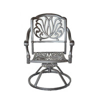 Outdoor dining chairs patio seat swivel rocker cast aluminum Elisabeth furniture image 1