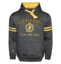 HP129 Licensed Unisex Hufflepuff™ Hooded Hoodie Sweatshirt-Charcoal Harr... - $44.99