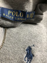 Polo Ralph Lauren Men Sweater 1/4 Half Zip Pullover Jumper 100% Cotton Gray XL - $18.46