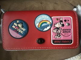 NWT Limited DISNEY X COACH 1941  Dinky With Minnie Mouse Patches Red - $850.00