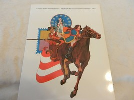 1975 USPS Mint Set of Commemorative Stamps Book Only no stamps - $14.85