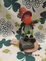 "Annalee Dolls 1998 7"" Lucky The Leprechaun On Rock Ooh!! Mouth Mwt - $45.00"