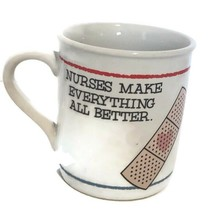 Nurses Make Everything Better Heart Bandaid Vtg Coffee Mug Tea Cup Hallm... - $8.81