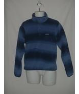 Patagonia Synchilla T Snap Fleece Pullover Men SMALL S BLUE Tie Dye Stripe Ombre - $69.73