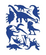 LiteMark Blue Assorted Dinosaur Decals - Pack of 42 - $19.95