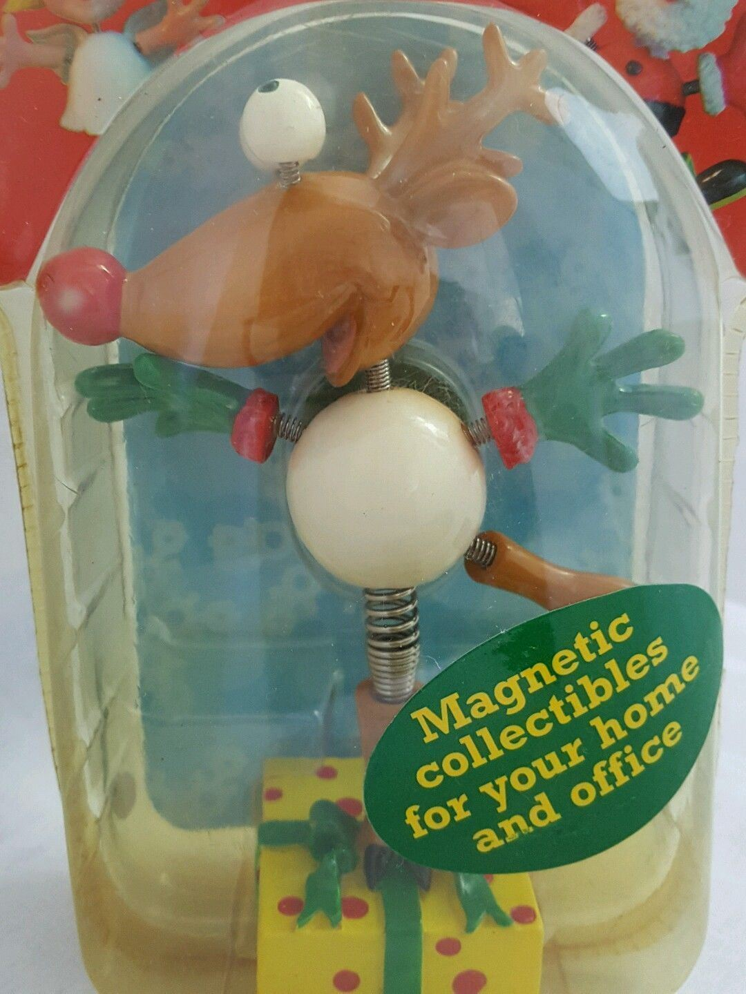 Vtg Reindeer Exhart Magnetic Springees Collectible 6 inch Discontinued  NOS
