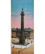 PARIS in 1900s Beautiful Chromotype Photo - Napoleon Column & Place Vendome - $19.80