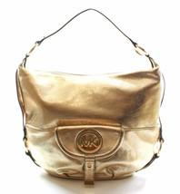 MICHAEL KORS Leder Bleichgold Fulton Schultertasche mittelgroße Handtasche - $205.44