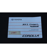 2003 TOYOTA COROLLA OWNER'S AND OPERATOR'S MANUAL BOOK K4687 - $44.55