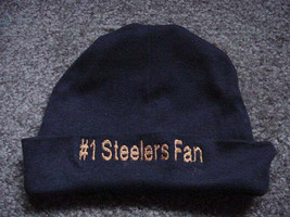 Pittsburgh Steelers Football Baby Infant Newborn Hospital Hat Cap Black - $19.99