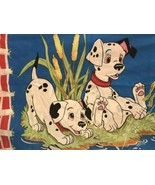 Vintage Disney 101 Dalmations Get Spotted Standard Double Sided Pillow C... - $21.77