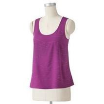 Elle Embellished Grape Juice Purple Sleeveless Tank Top Cami M XL - $24.99