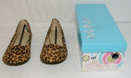 Anna Truman 1 Loepard Print Suede Womens Flats Size 7 And Half image 1