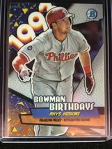 Rhys Hoskins 2018 Bowman Baseball Bowman Birthdays Rc Phillies - $0.98