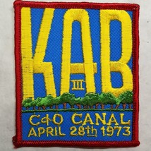 KAB III C&O Canal April 28th 1973 Patch - $7.27