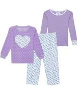 NEW Carter's Kids' 3-piece Fleece PJs, Purple Heart SELECT SIZE FREE SHI... - $19.99