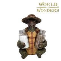 "3pc Turtle Soup Figurine Salt and Pepper Shaker Set Kitchen Home Decor 7"" - $20.74"