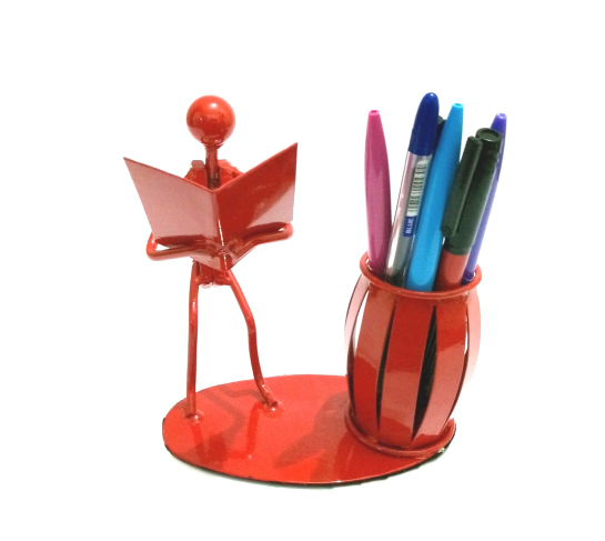 Desk Organizer Bookman Pen/Pencil/Crayons/Liners/Make Up Brushes  Holder-Metal