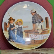 "1983 Knowles Fine China 1st Issue Collector Plate ""Fish Story"" By Jeanne... - $3.95"