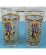 SET OF 2 1997 Kentucky Derby 123 Churchill Downs Mint Julip Tumbler Glas... - $16.69