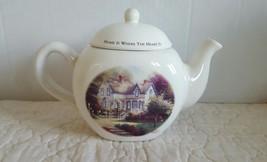 Thomas Kinkade Teapot / Home Is Where The Heart Is EUC Ship Fast w Tracking # - $14.99