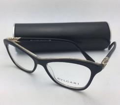 New BVLGARI Eyeglasses 4093-B 5325 53-16 140 Black & Gold Glitter with Crystals