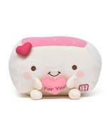 Tofu Cushion Hannari Heart Ivory Stuffed Toy Size M Japan Gift Cute Goods - $43.93