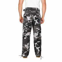 Men's Camo Military Tactical Work Combat Army Slim Fit Twill Cargo Pants image 3