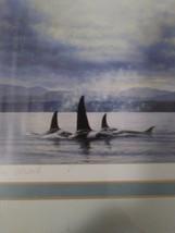 "James Wiens ""Georgia Strait""  New 11""X 14""  BC Canada "" Orcas"" Art Life Painting image 1"