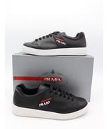 Nuevo en Caja Prada Piel Negra Hombre Logo Puntera Baja Zapatillas 11.5 ... - $345.01