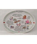 """What A Grandmother Is"" Original Red Plate Co. Decorative Platter 1983  - $11.87"