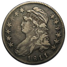 1811 Capped Bust Half Dollar 50¢ Coin Lot# A 2157