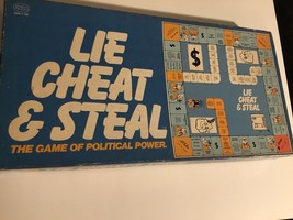 1976 Vintage Reiss LIE ChEAT AND STEAL Board Game - $18.70