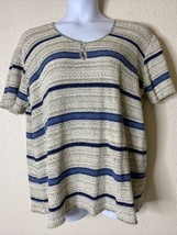 Adele Knitwear Womens Plus Size 3X Knit Striped Blouse Short Sleeve - $16.43