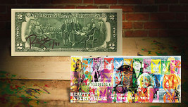 PLAYBOY Hugh Hefner OFFICIAL $2 U.S Bill SIGNED by RENCY Numbered of 91 ... - $38.61