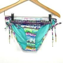 Jessica Simpson Womens Swimwear Bikini Bottom Side Tie Multi-Color Size ... - $18.65