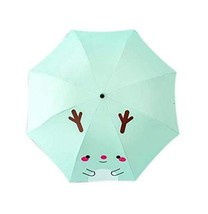 PANDA SUPERSTORE Sunscreen Sun Rain Umbrella Anti-UV Lovely Folding Umbrella, Li