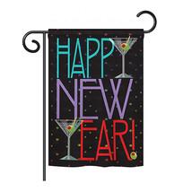 "New Year Martini - 13"" x 18.5"" Impressions Garden Flag - G166009 - $17.97"