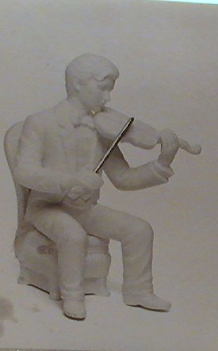 Primary image for Dept 56 Winter Silhouette Fine White Porcelain Christmass Concerto Violinist Mus