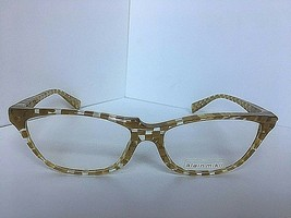 New Vintage ALAIN MIKLI AL 08820008 54mm Yellow Cats Eye Women Eyeglasse... - $369.99