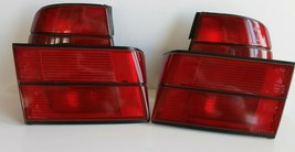 Tail Lights BMW E34 OEM HELLA Set All Red Tinted Sedan Genuine Tint 1989... - $216.81