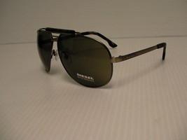 Diesel new sunglasses men DL0027 col.17N 63/11 gunmetal frame green lenses - $89.05