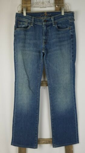 7 For All Mankind Damen 32 Blau Bootcut Jeans