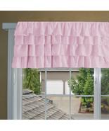 Chiffon LIGHT PINK Ruffle Layered Window Valance any size  - $25.99+