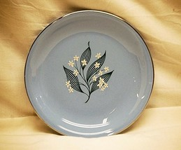 Old Vintage 50s Stardust by Homer Laughlin Bread & Butter Plate Skytone Blue MCM - $9.89