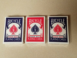3 Decks Bicycle Rider Back Poker 808 Single Deck Playing Cards Blue & Re... - $14.80