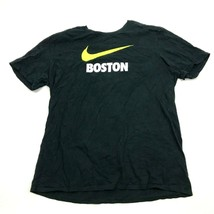 Nike Boston Shirt Size Extra Large XL Athletic Cut Black Tee Short Sleev... - $17.83
