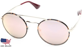 New Prada Spr 51S 2AU-5L2 Dark Havana /ROSE Gold Lens Sunglasses 54-22-135 Italy - $163.33