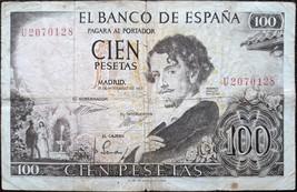 Spain banknote - 100 cien pesetas - year 1965 - Gustavo Adolfo Bécquer - $9.36